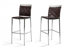 Shasta Brown Eco-leather Bar Stool Available Online in Dallas Fort Worth Texas