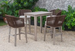 Renava Fiji Outdoor Beige Bar Table Set Available Online in Dallas Fort Worth Texas