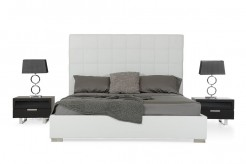 Francis White Leatherette Bed Available Online in Dallas Fort Worth Texas