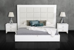 VIG Glam Crocodile Lacquer Bed Available Online in Dallas Fort Worth Texas