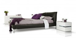 Loft Grey Eco-leather Platform Bed Available Online in Dallas Fort Worth Texas