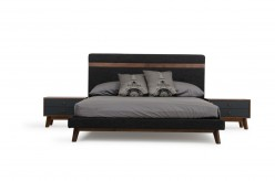 Nova Domus Dali Grey Fabric Bed Available Online in Dallas Fort Worth Texas