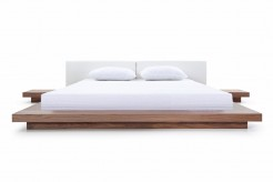 VIG Opal Walnut & White Platform Bed Available Online in Dallas Fort Worth Texas