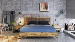 VIG Sala Light Wood Bed Available Online in Dallas Fort Worth Texas