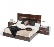VIG Picasso Ebony Lacquer Bed Available Online in Dallas Fort Worth Texas