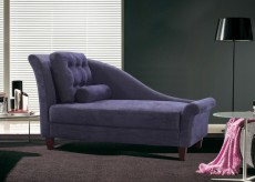 VIG Divani Casa Purple Fabric Chaise Available Online in Dallas Fort Worth Texas