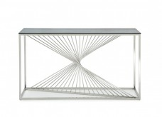 VIG Trinity Glass Console Table Available Online in Dallas Fort Worth Texas
