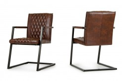 Lipan Cognac Dining Arm Chair Available Online in Dallas Fort Worth Texas