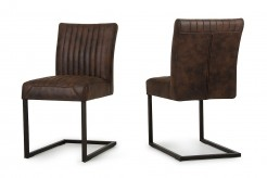 Marfa Cognac Side Chair Available Online in Dallas Fort Worth Texas