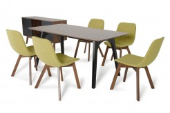 Laken 7pc Walnut & Green Tea Dining Set Available Online in Dallas Fort Worth Texas