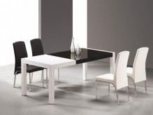 VIG Combi White And Black Lacquer Table Available Online in Dallas Fort Worth Texas