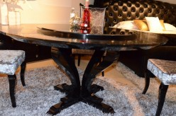 VIG Chic Round Crocodile Lacquer Table Available Online in Dallas Fort Worth Texas