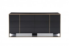Nova Domus Cartier Black & Brushed Bronze Dresser Available Online in Dallas Fort Worth Texas
