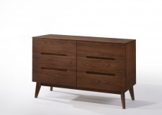 Lewis Walnut Dresser Available Online in Dallas Fort Worth Texas