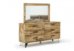 Sala Light Wood Dresser & Mirror Set Available Online in Dallas Fort Worth Texas