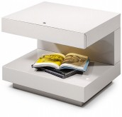 Esso White Glossy Nightstand Available Online in Dallas Fort Worth Texas