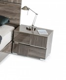 Picasso Grey Lacquer Nightstand Available Online in Dallas Fort Worth Texas