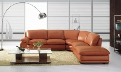 VIG Zee Camel Leather Sectional... Available Online in Dallas Fort Worth Texas