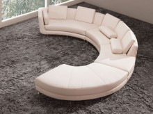 VIG Kyani White Leather Section... Available Online in Dallas Fort Worth Texas