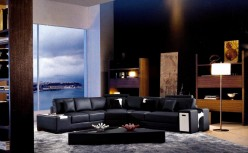 VIG Zano Leather Sectional Sofa Available Online in Dallas Fort Worth Texas