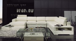 VIG Divani Casa White Leather S... Available Online in Dallas Fort Worth Texas