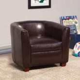 Kids Brown Faux Leather Chair Available Online in Dallas Fort Worth Texas