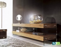 VIG Aura Walnut Floating TV Stand Available Online in Dallas Fort Worth Texas