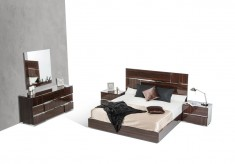 VIG Picasso 4pc Ebony Lacquer Bedroom Group Available Online in Dallas Fort Worth Texas
