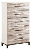 Ashley Evanni 5 Drawer Chest Available Online in Dallas Fort Worth Texas