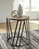 Ashley Fathenzen Round End Table Available Online in Dallas Fort Worth Texas
