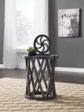 Ashley Sharzane Round End Table Available Online in Dallas Fort Worth Texas