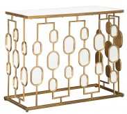 Ashley Majaci Gold Console Table Available Online in Dallas Fort Worth Texas