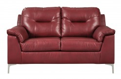 Ashley Tensas Red Loveseat Available Online in Dallas Fort Worth Texas
