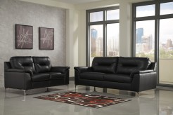 Ashley Tensas Black Loveseat Available Online in Dallas Fort Worth Texas