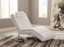 Ashley Goslar White Chaise Available Online in Dallas Fort Worth Texas