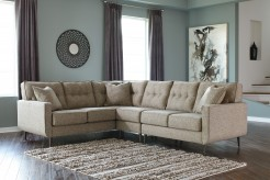 Dahra 3pc Left Arm Facing Sofa Wedge Sectional Available Online in Dallas Fort Worth Texas