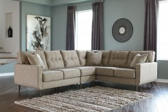 Dahra 3pc Right Arm Facing Sofa Wedge Sectional Available Online in Dallas Fort Worth Texas