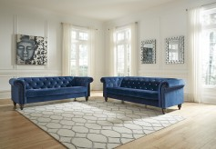 Ashley Malchin 2pc Blue Living ... Available Online in Dallas Fort Worth Texas