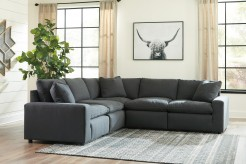 Ashley Savesto 5pc Charcoal Sec... Available Online in Dallas Fort Worth Texas