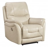 Ashley Stolpen Cream Recliner Available Online in Dallas Fort Worth Texas