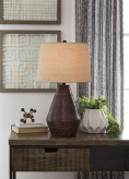 Nelina Reddish Brown Terracotta Table Lamp Available Online in Dallas Fort Worth Texas