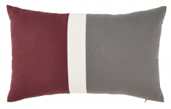 Jacop Gray/White/Brick Red Pillow Available Online in Dallas Fort Worth Texas