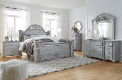Zolena 5pc King Poster Storage Bedroom Group Available Online in Dallas Fort Worth Texas