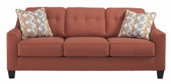 Ashley Menga Rust Sofa Available Online in Dallas Fort Worth Texas