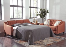 Ashley Menga Rust Sleeper Sofa Available Online in Dallas Fort Worth Texas