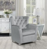 Coaster Sandy Grey Accent Chair Available Online in Dallas Fort Worth Texas