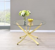 Coaster Brady Brass Dining Table Available Online in Dallas Fort Worth Texas