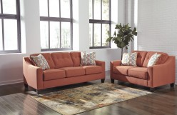 Ashley Menga 2pc Rust Sofa & Lo... Available Online in Dallas Fort Worth Texas