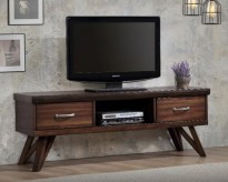 Coaster Wooba Walnut TV Console Available Online in Dallas Fort Worth Texas