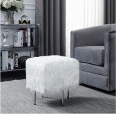 Coaster Katie White Ottoman Available Online in Dallas Fort Worth Texas